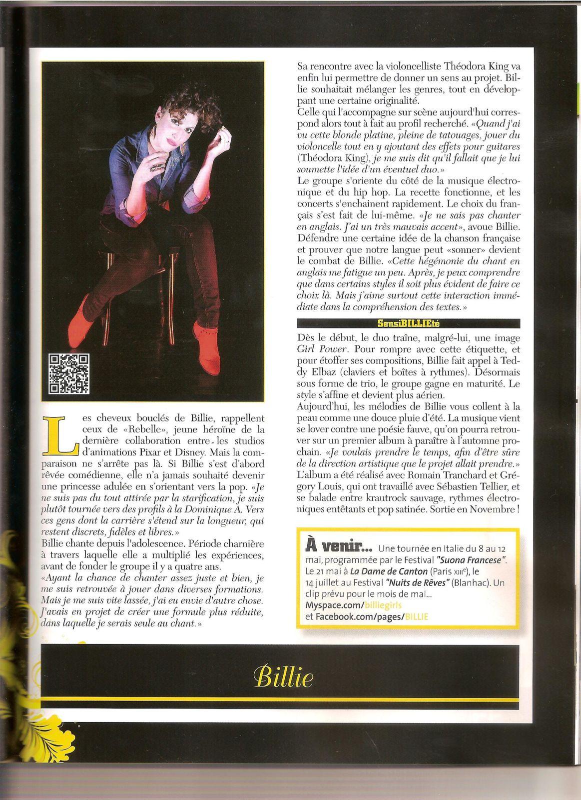 Billie : Le Feminin