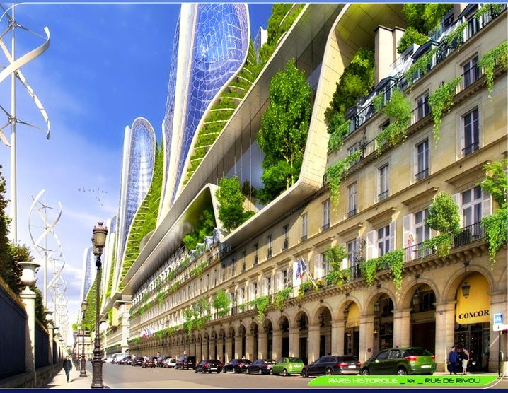 Ville cologique du futur green city futuristic le for Architecture futuriste ecologique