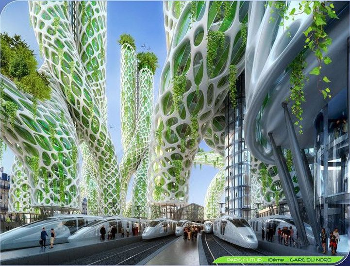 Ville cologique du futur green city futuristic le for Architecture utopiste