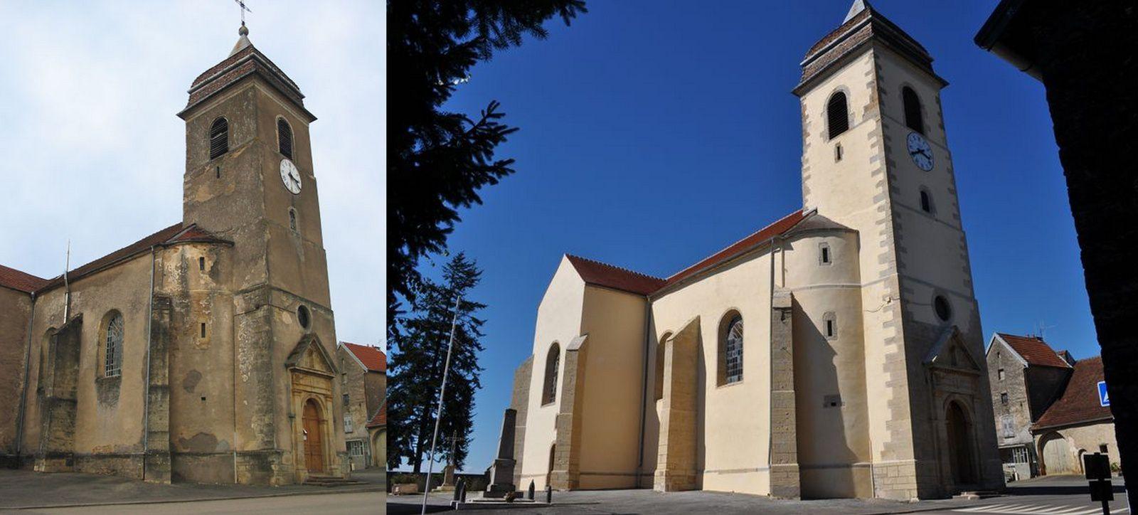 La restauration de l'église de Fleurey