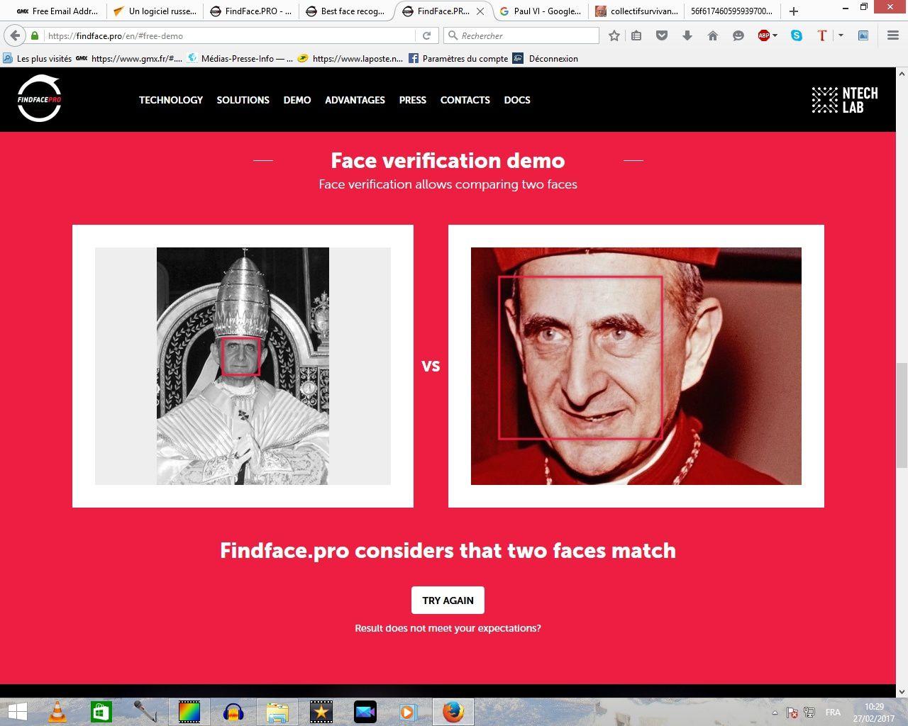 Deux photographies du vrai pape (Paul VI et le cardinal Montini)