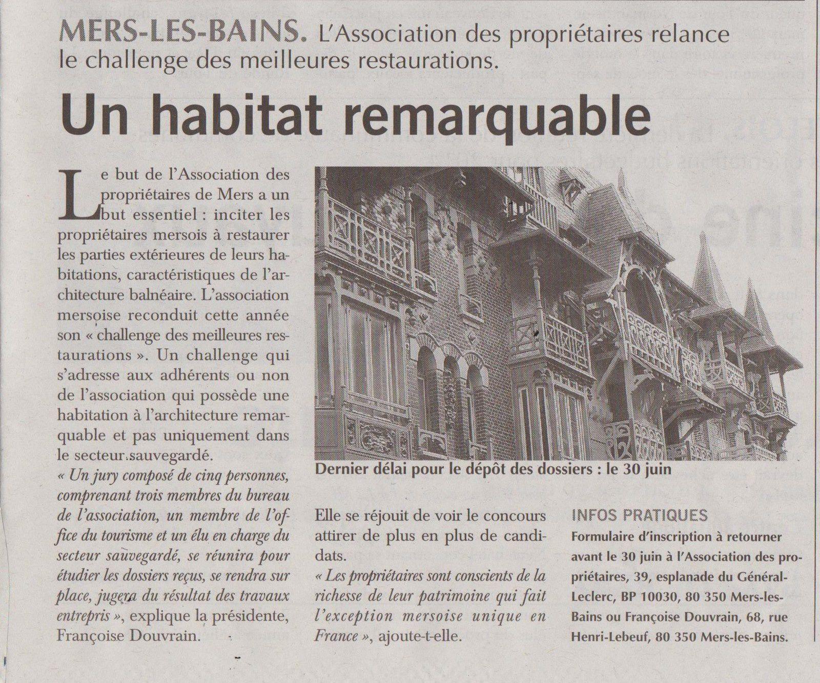 """article de presse """"Paris Normandie"""" 22 mars 2014 - Un habitat remarquable"""