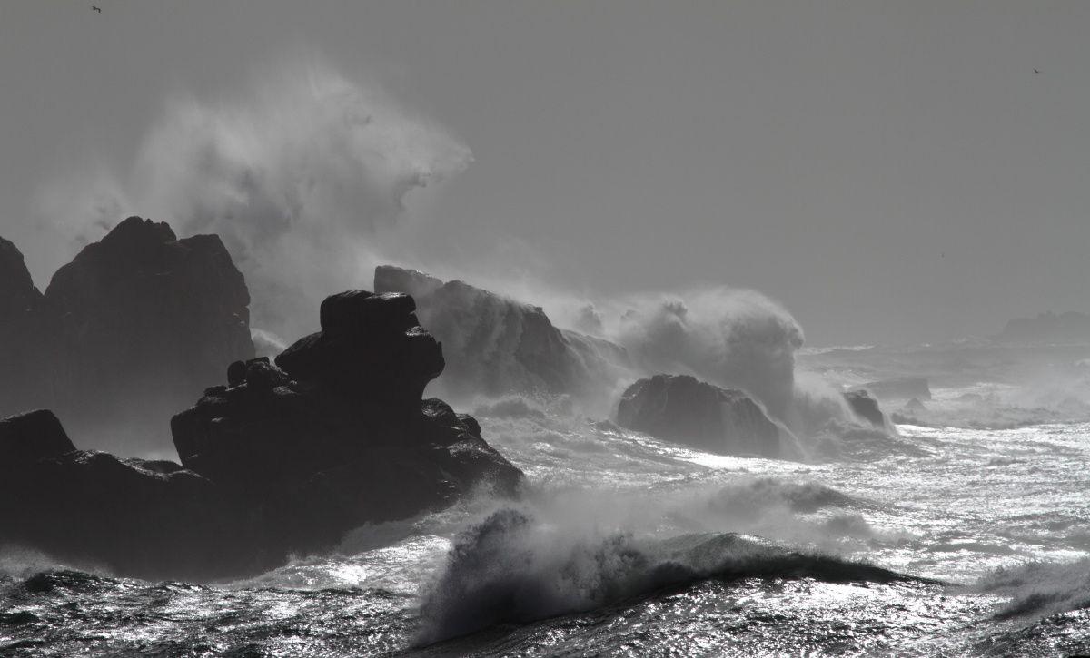 Côtes de la mer d'Iroise ( Nord Bretagne)