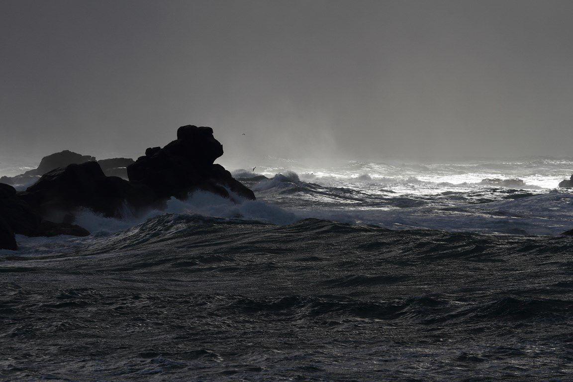 Premier coup de vent 2015 en mer d'Iroise...