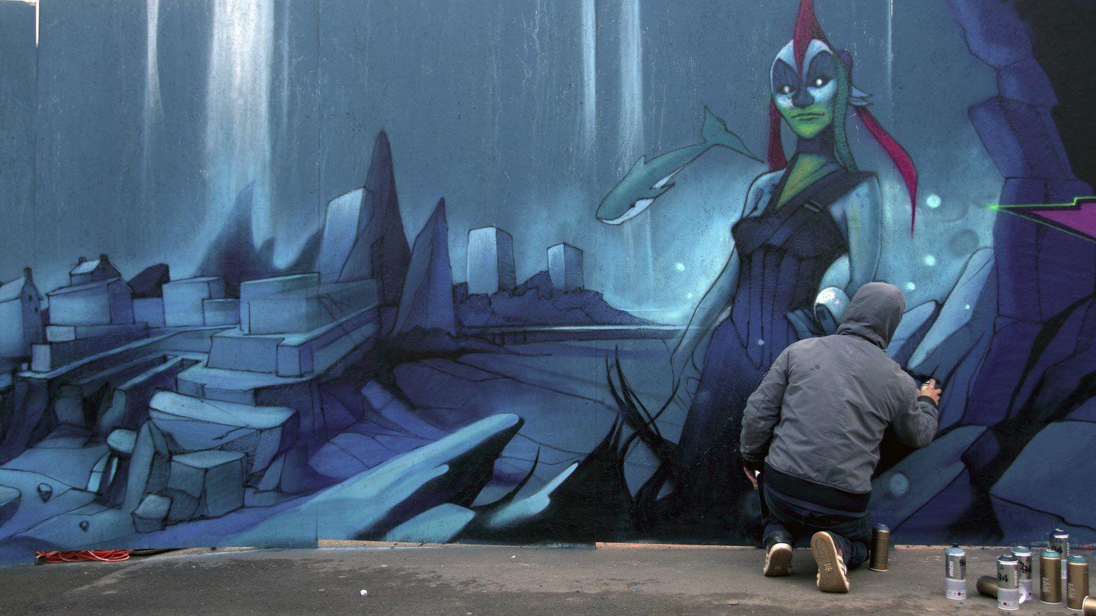 Les graffeurs brestois dans leurs oeuvres...