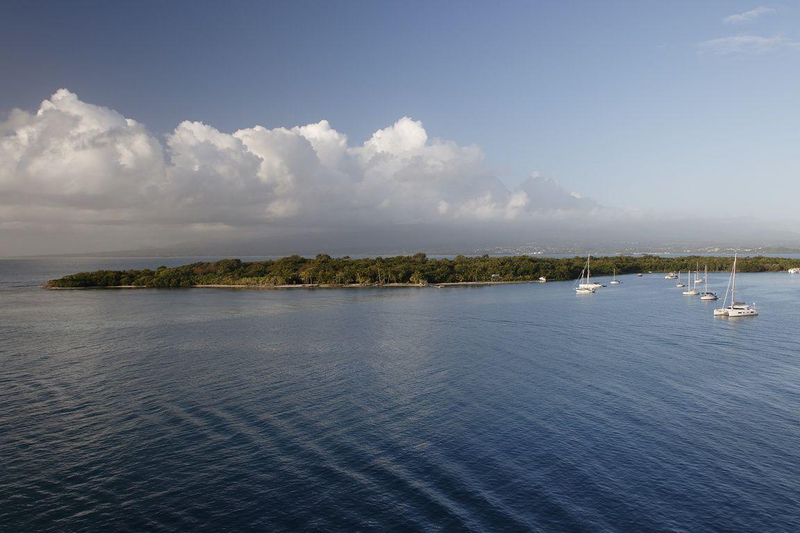 L'arrivée en Guadeloupe