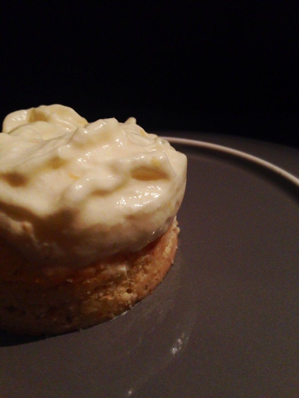 Palets bretons et mousse légère à la mandarine