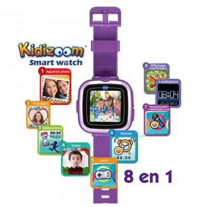 Une montre intelligente, antichoc et super fun by VTech : la Kidizoom Smart Watch