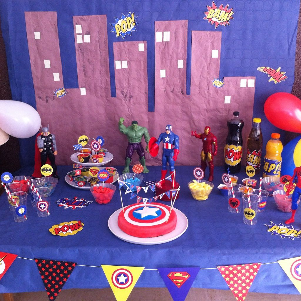 Un Anniversaire De Super Héros 6 Ans Maman At Home