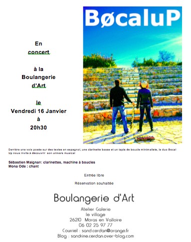 16 janvier Duo Bocal Up
