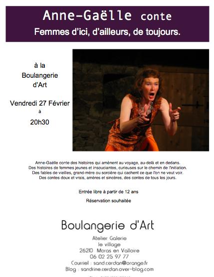 Soirée contes avec Anne Gaëlle Vendredi 27 février 20H30