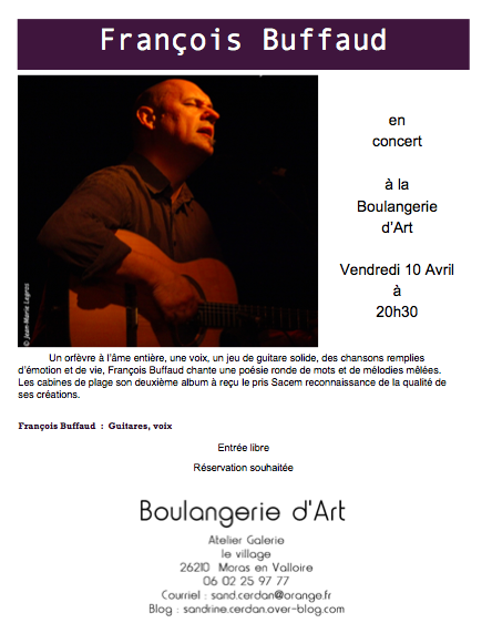 François Buffaud le 10 avril  20H30