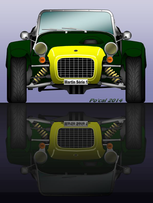une couleur plus classique proche des Lotus originales, en plus celle ci a les ailes longues que Lotus avait intoduit pour l'homologation américaine