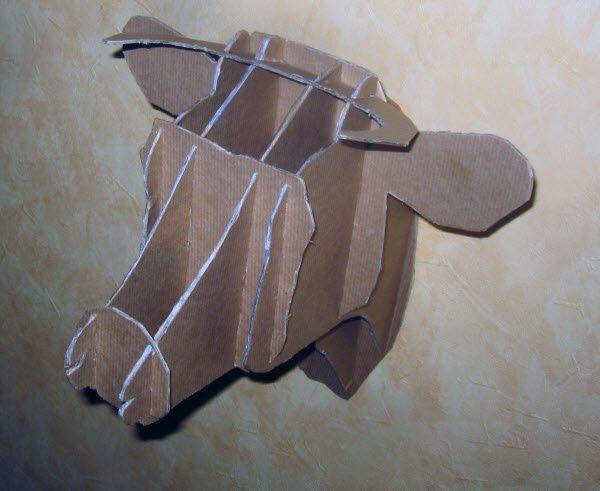 Trophée tête de vache