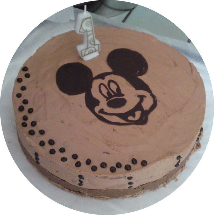 Gâteau Mickey en chocolat (technique du Window color)