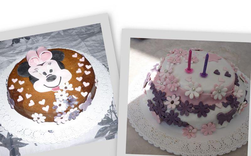 Gâteau girly fleuri & Gâteau Minnie