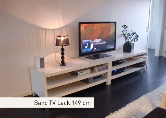 Latest banc tv design ikea ikea expedit banc tv u deco for Meuble 6 cases ikea