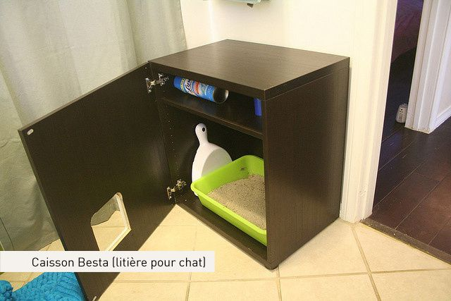 Pin by clotilde on life hacks pinterest - Meuble litiere chat ikea ...
