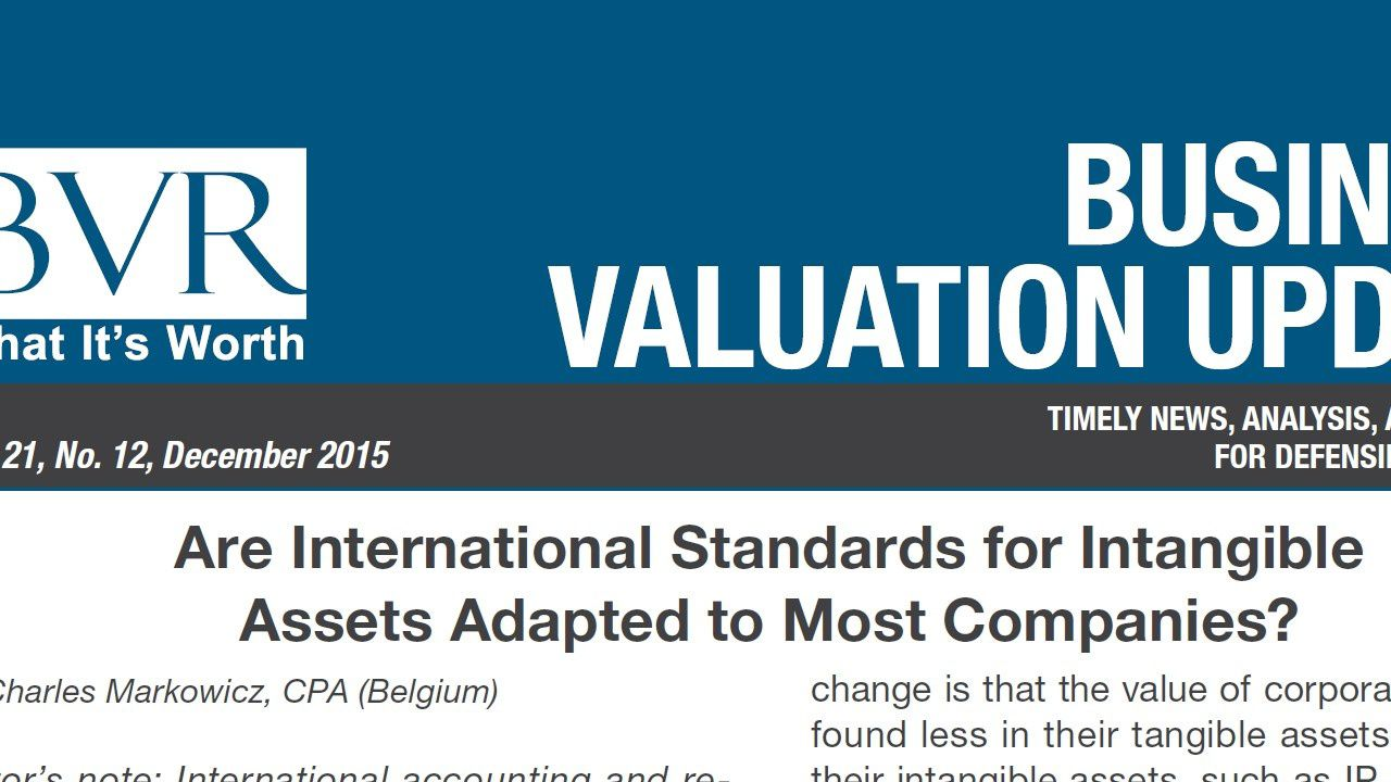 Read our article on IAS 38 ( intangible Assets ) in Business Valuation Resources