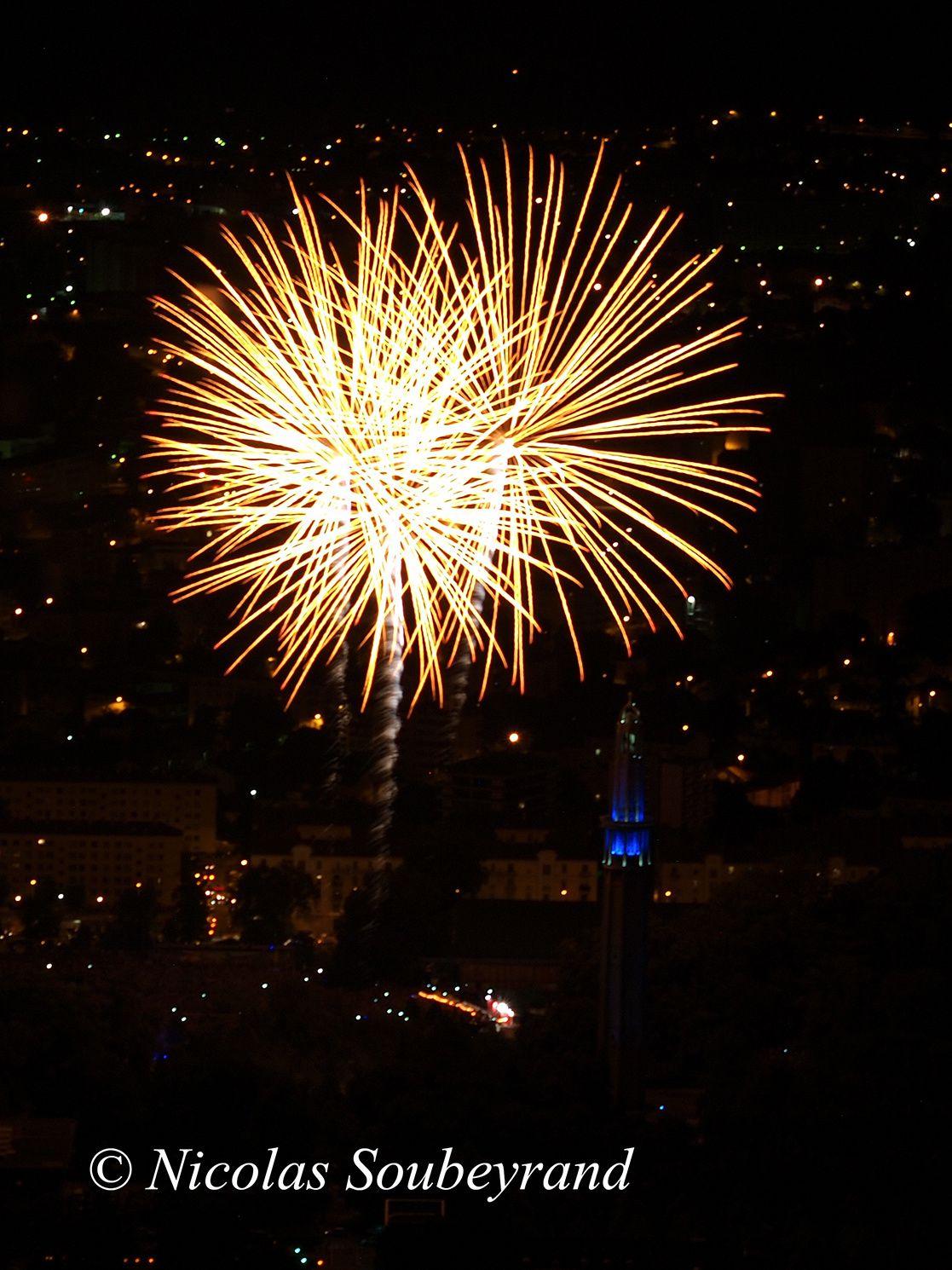 feu d'artifice de Grenoble 2015 depuis la Bastille