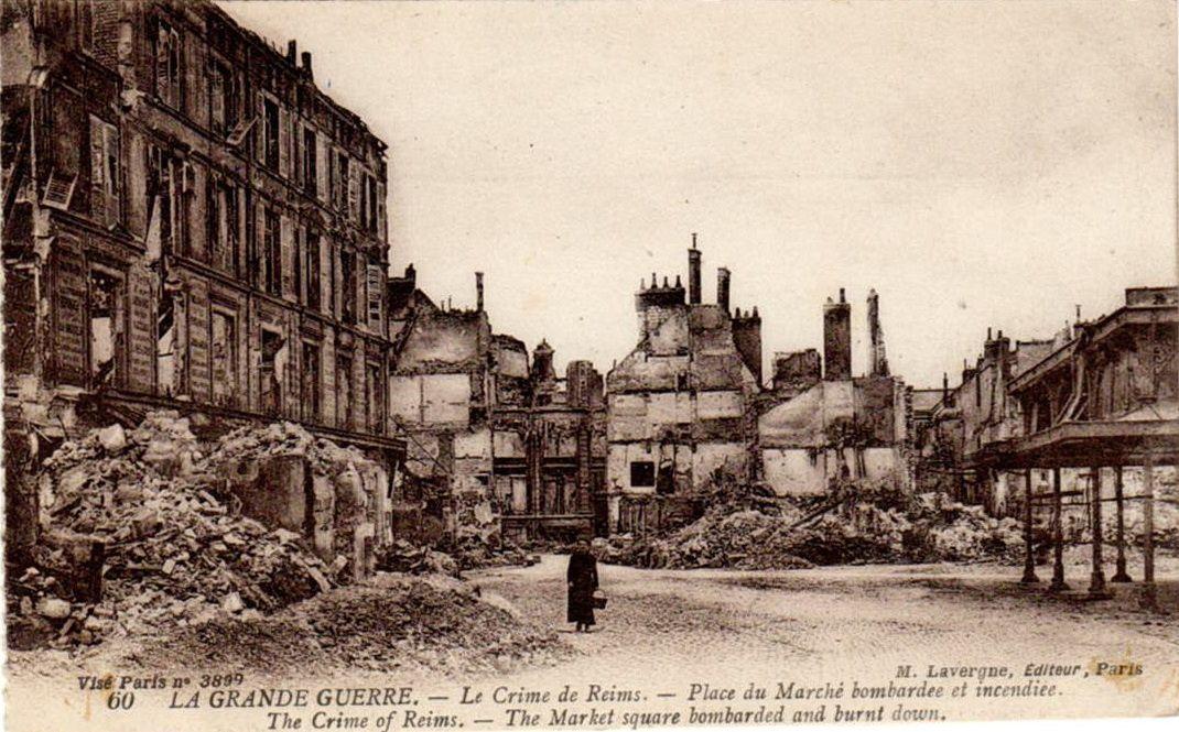 après les bombardement de la Grande Guerre (collection V. Valette)