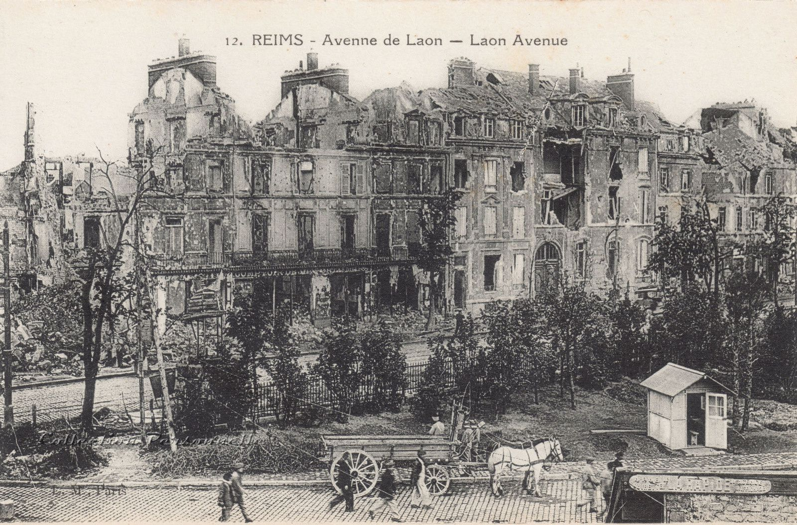L'avenue de Laon vue depuis &quot&#x3B;la Petite Vitesse&quot&#x3B; - 1919