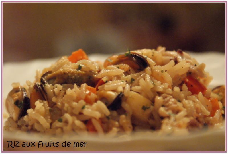 Riz aux fruits de mer carole en cuisine - Cuisiner cocktail de fruits de mer surgele ...