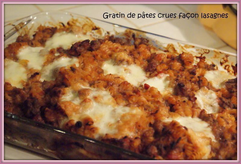 Gratin de pâtes crues façon lasagnes - Maxi Tour en Cuisine