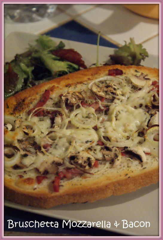 Bruschetta bacon&amp&#x3B;mozarella - Tour en cuisine