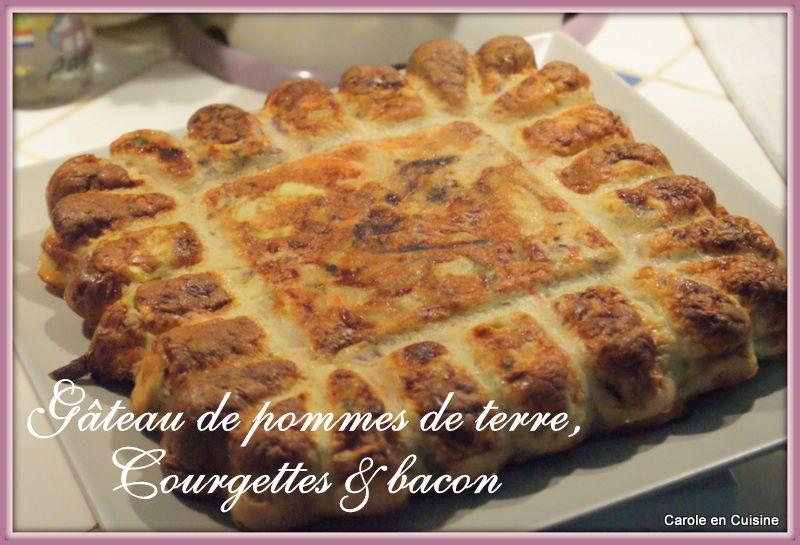 Gâteau de pommes de terre, courgettes &amp&#x3B; bacon