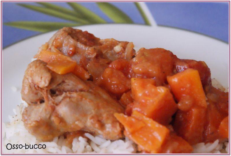 Osso bucco de dinde carole en cuisine - Comment cuisiner osso bucco de dinde ...