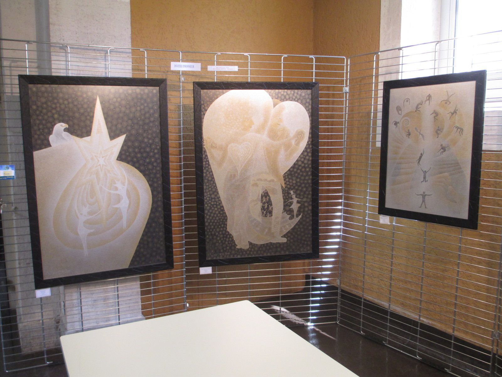 Des aquarelles exposées