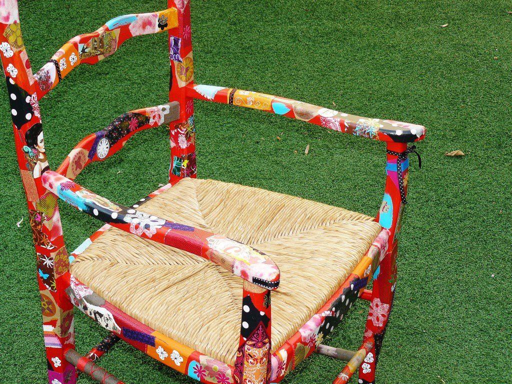 Chaise customisée