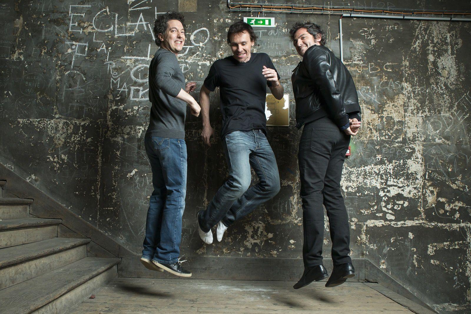 Guillaume Gallienne, Nicolas le Riche et Matthieu Chedid posent sous l'objectif de Patrick Fouque (Paris Match) à l'heure des adieux du danseur à l'Opéra de Paris