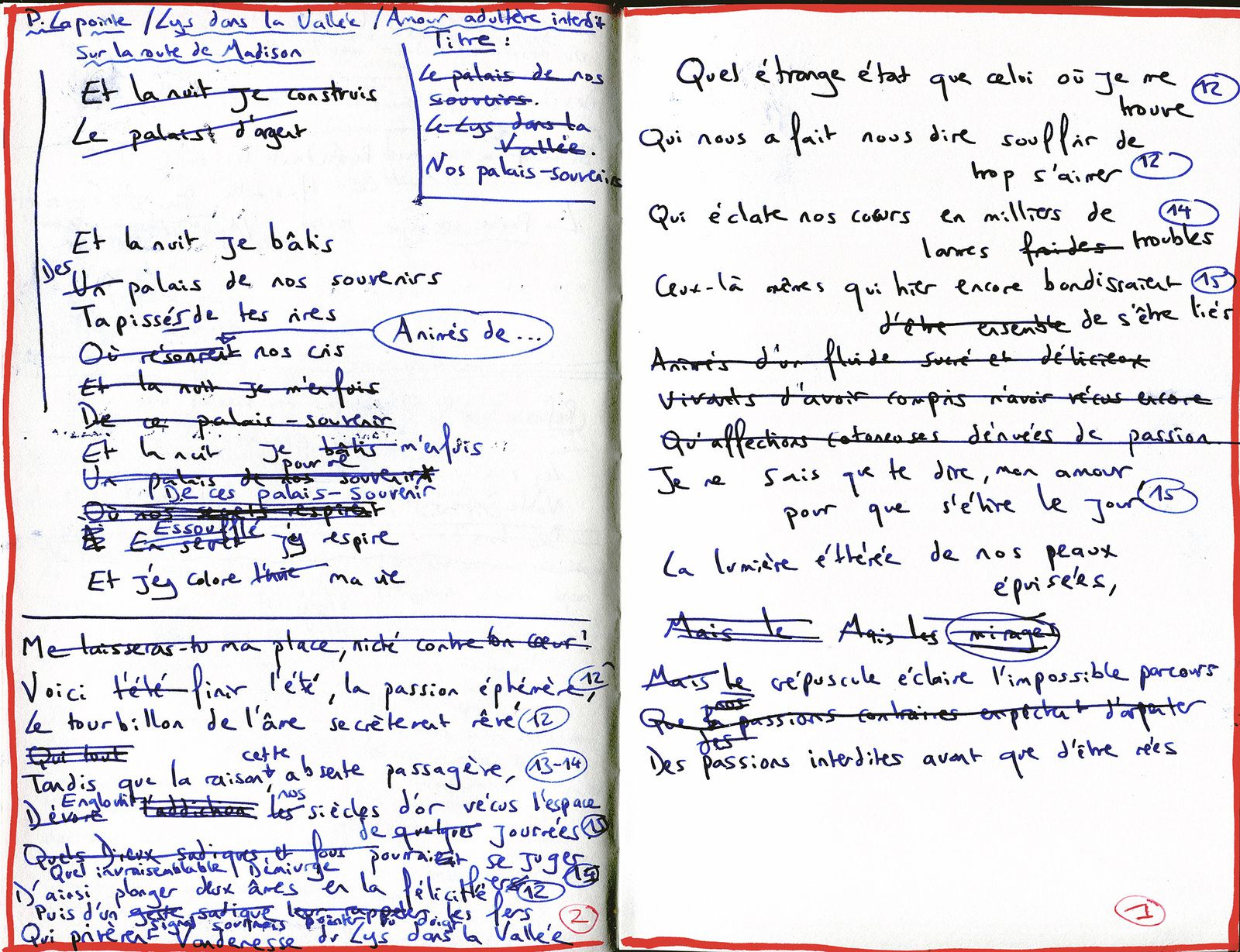 Nos palais-souvenir (manuscrit)