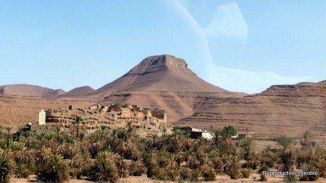 Images de la route entre Foum Zguid et Ouarzazate