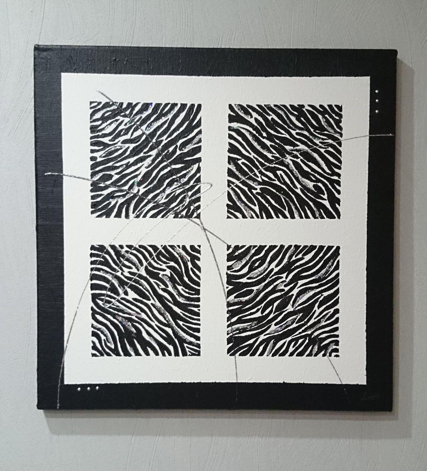 tableau 60 zebre les tableaux de muriel. Black Bedroom Furniture Sets. Home Design Ideas