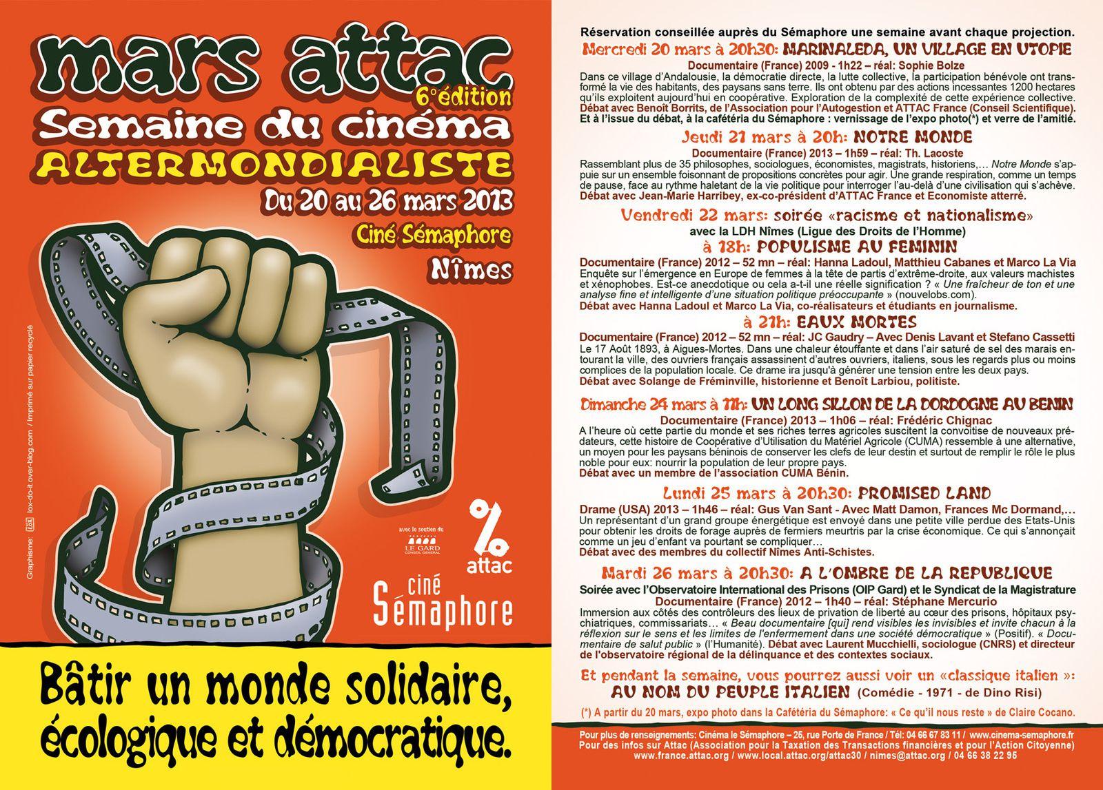 Mars ATTAC 2013 - Affiche et Programme par Löx