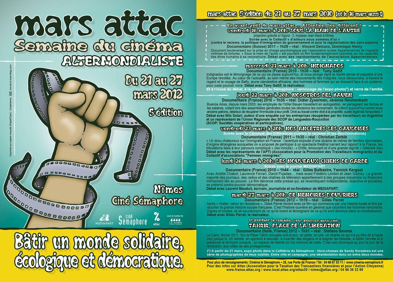 Mars ATTAC 2012 - Affiche et Programme par Löx