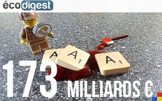 En 2014, la France prévoit d'emprunter 173 milliards d'euros sur les marchés à moyen et long terme, à des taux bas, triple A ou pas !   Flickr/ Kloou.