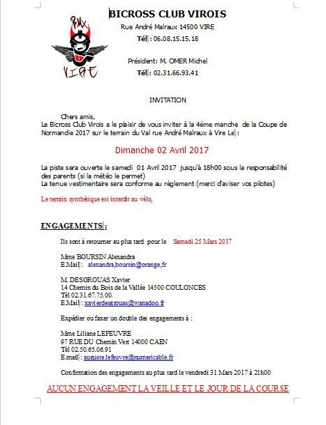 Invitation VIRE