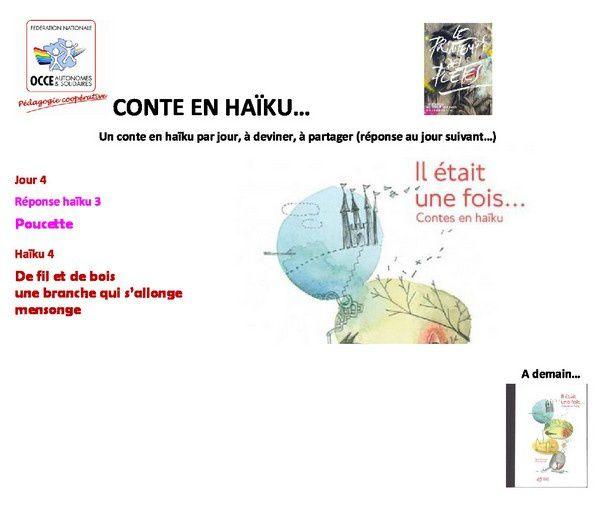 un conte en haïku (4) ...