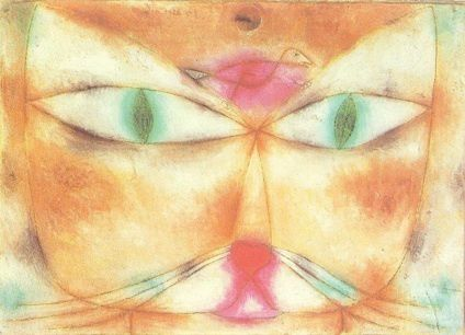 Paul Klee - chat et oiseau,1928, (The Museum of Modern Art (MoMA) New-York)