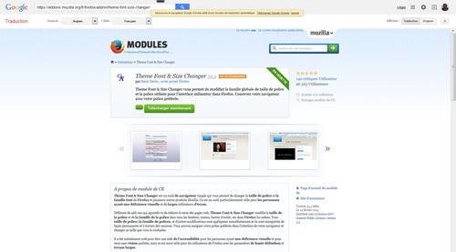 Theme Font &amp&#x3B; Size:  changer de taille de police dans Firefox...