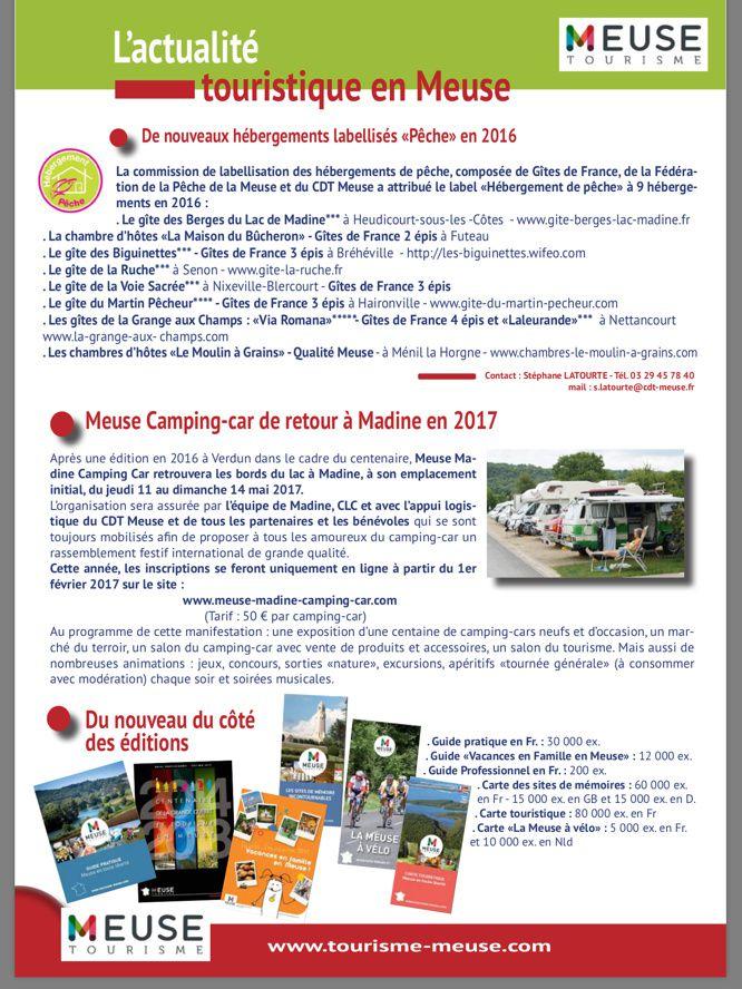Retrouver l'actualité du Comité Meuse de Tourisme