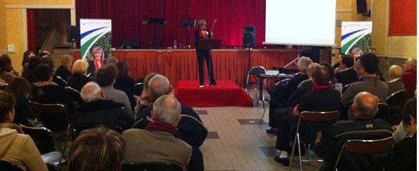 Françoise Pelorce expose son projet pour Craponne