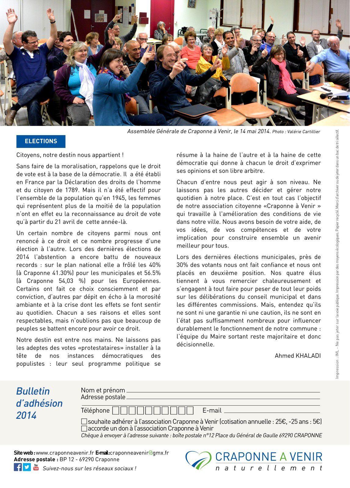 L'info D'avance n°12 - Eté 2014