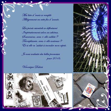 Ma liste - Acrostiche - Véronique Dubois - Voeux pour 2016