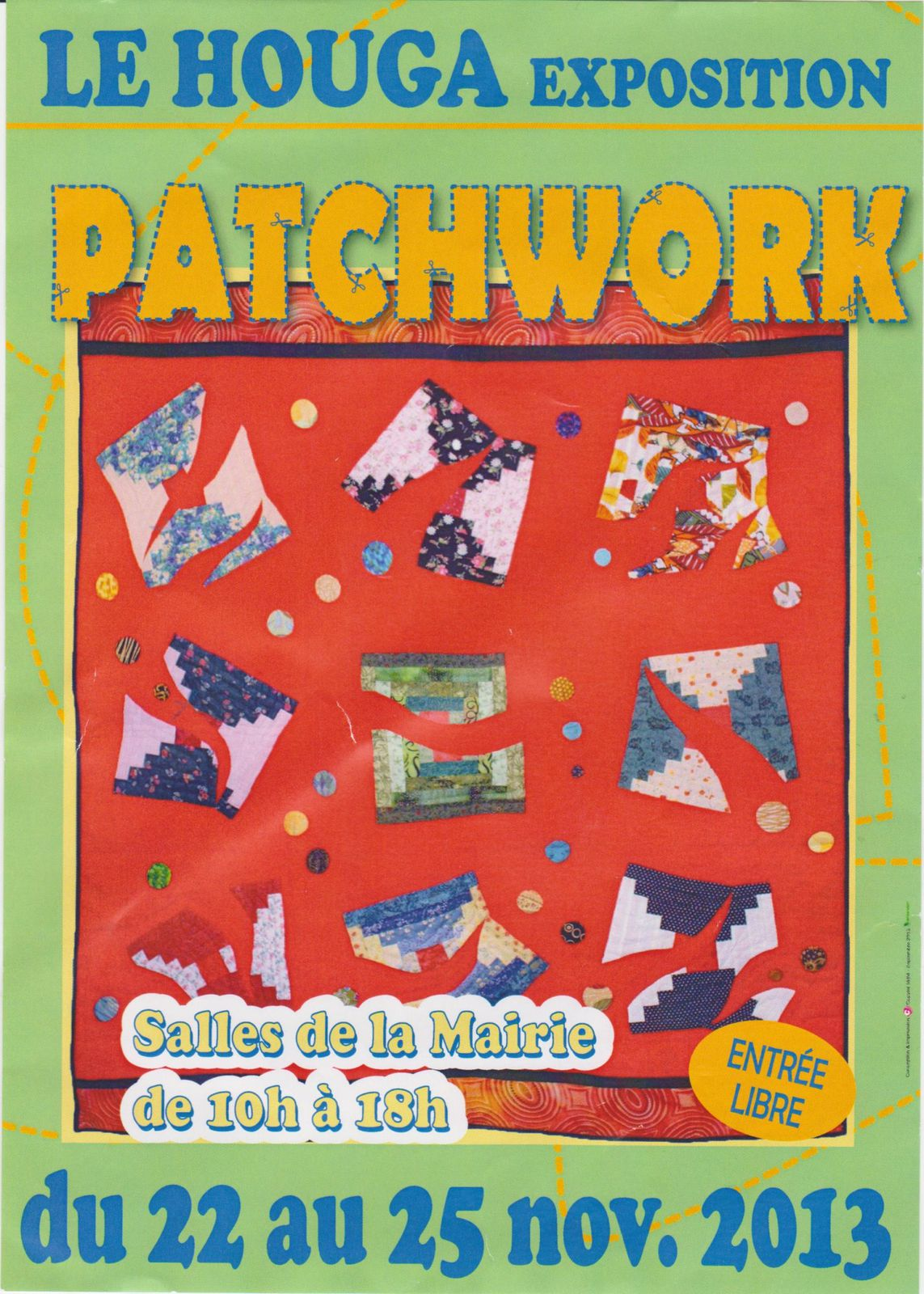 Exposition patchwork au Houga!