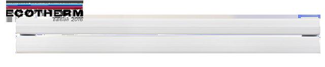 Radiateur électrique à inertie plinthe 1000W